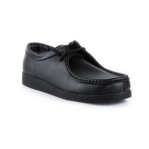 beckett mens leather lace up shoe in black shoe zone