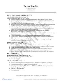 Sample Resume Insurance Agent Direct Care Counselor Sample Resume Sales Trader Sample