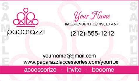 paparazzi business card template a lister business cards