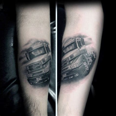 mercedes tattoo 60 truck tattoos for vintage and big rig ink design