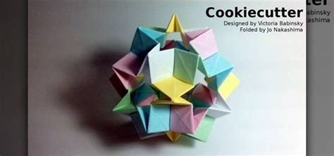 origami cutter how to fold a complex cookie cutter origami for