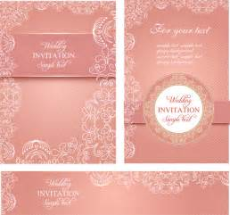wedding design cards template wedding invitation card templates free vector in adobe