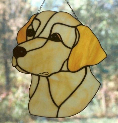 golden retriever stained glass pattern labrador retriever stained glass stained glass patterns glasses