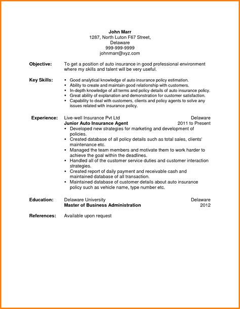Producer Resume by Insurance Producer Resume Template