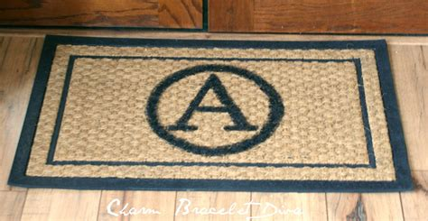 Monogram Door Mat our hopeful home diy monogrammed coco door mats