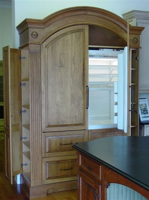 Armoire Refrigerator by Unfitted Armoire Refrigerator Traditional Kitchen Other Metro By Yestertec Design Company