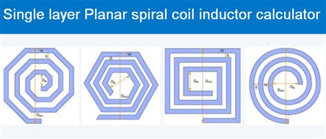 single layer inductor construction single layer planar spiral coil inductor calculator tesla institue