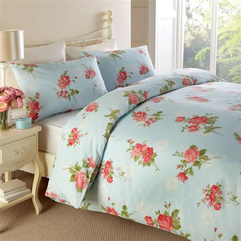 pastel bedding traditional floral duvet cover vintage cotton rich
