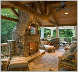 Outdoor covered patio with fireplace patios home
