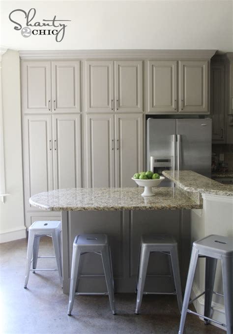 Painting Kitchen Cabinets Gray by Grey Paint Color For Kitchen Cabinets Interior