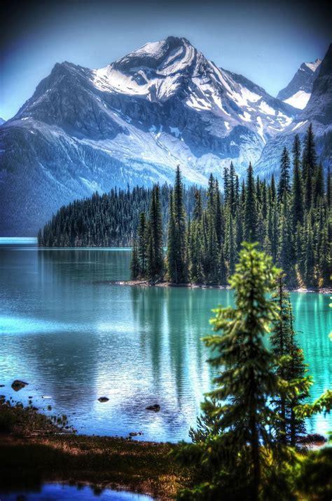 spirit island  maligne lake  jasper national park pictures   images