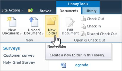 add file create create file document file new new create a folder in a document library sharepoint
