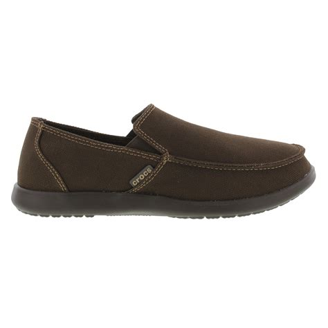 crocs loafers santa crocs santa clean cut loafer mens brown slip on shoes