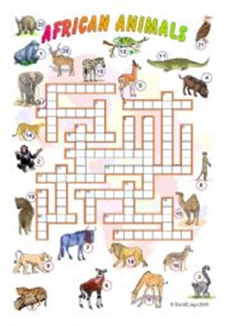 printable africa puzzle english teaching worksheets african animals