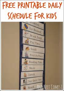 home free schedule free printable daily visual schedule and next comes l