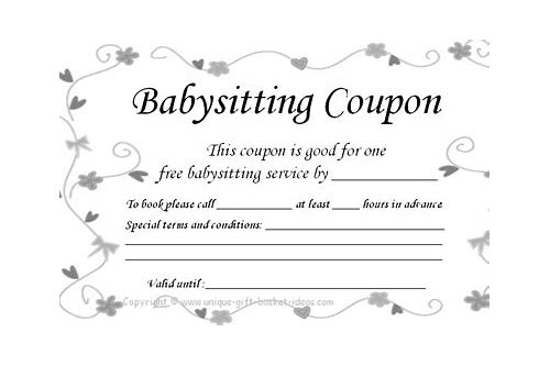 free date night babysitting coupon