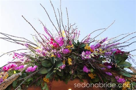 Wedding Arch Already Decorated by Residential Sedona Weddings Sedona Wedding Planners
