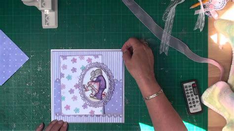 how to make a magic card cardmaking matting and layering card magic