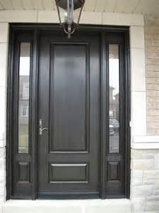 Front Door With Single Side Light Wood Grain Fiberglass Exterior Doors