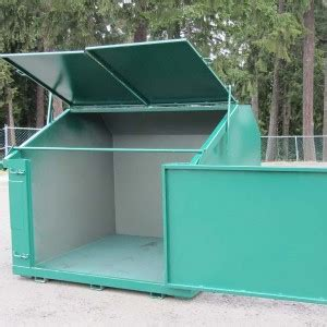 swing containers swing side front load container steel container systems inc