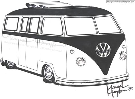 free coloring pages of vw cer bus