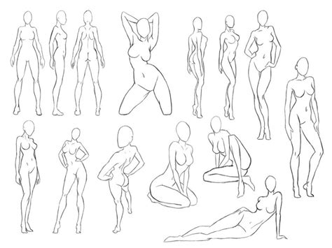 Sketches Poses by Pose Coloring Anatomy Drawing Poses Grig3 Org