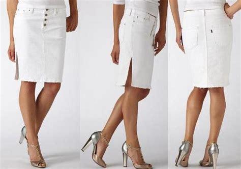 materialology 187 levis white denim pencil skirt is