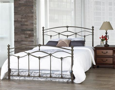 wrought iron bed frame romantica french grey double wrought iron bed frame contemporary beds toronto