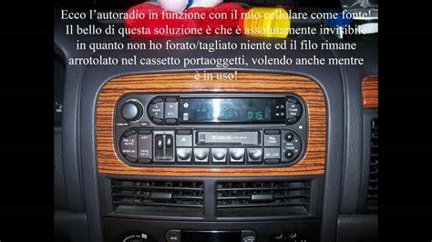 ingresso audio aux in ingresso audio fai da te su autoradio con