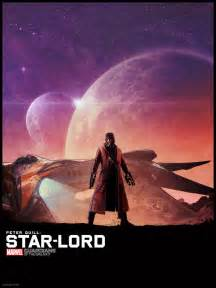Guardians of the galaxy illustrated poster star lord guardians of the