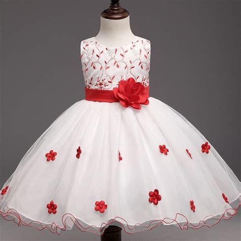Dress Kid Arcia Merah c00275 2017 sales baby dress children frocks designs beautiful princess dress for