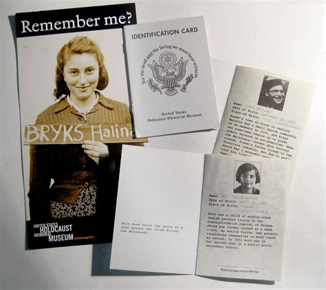 printable holocaust id cards do not forget the holocaust memorial museum cultural