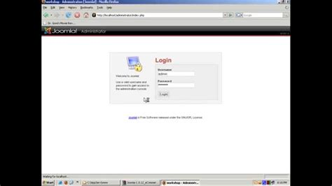 tutorial website cms tutorial installation web cms for jomla simple youtube