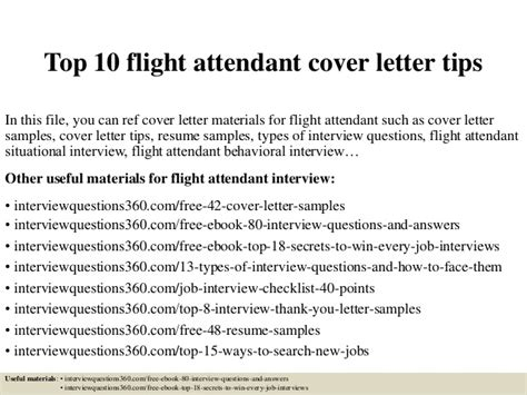 Cover Letter Exle Cabin Crew Top 10 Flight Attendant Cover Letter Tips