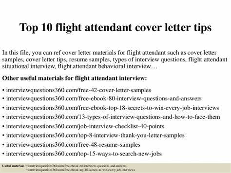 Cover Letter For Flight Attendant Position With No Experience ...