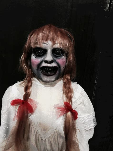 a haunted house 2 annabelle doll annabella creepy collection haunted house props