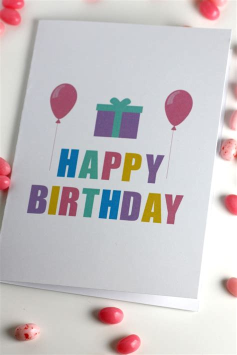 Printable Birthday Cards Blank | free printable blank birthday cards catch my party