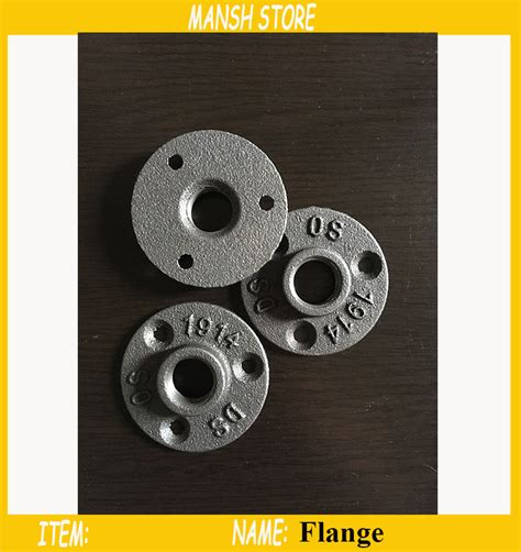 Promo Flange Re dn15 iron flange antique flange base bracket for g1 2 quot pipe 16pcs lot free shipping