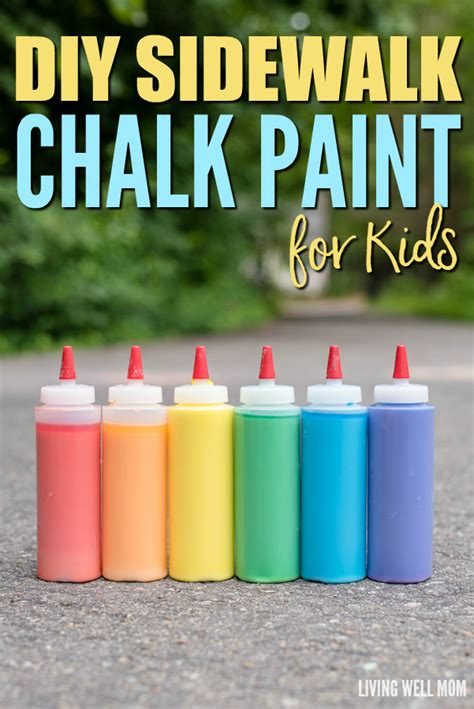 diy chalk paint outside diy sidewalk chalk paint for in less than 5 minutes