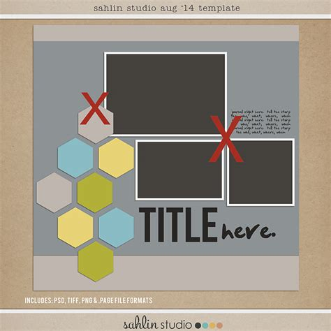 Free Digital Scrapbooking Template August 2014 Sahlin Studio Digital Scrapbooking Designs Digital Scrapbooking Templates