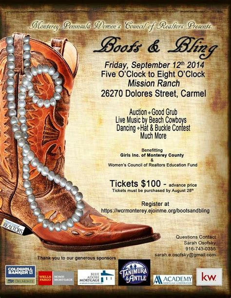 boots and bling invitation boots and bling wcr