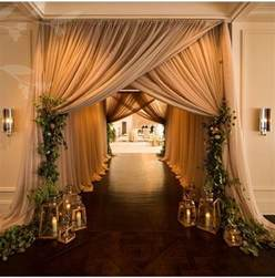 wedding decor draping ideas 20 creative wedding entrance walkway decor ideas wedding