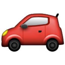 Car Lightning Cars Emoji Automobile Emoji U 1f697 U E01b