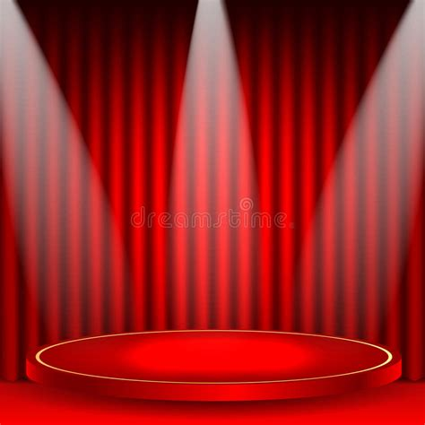 podium drape theatrical background stock vector image of rays