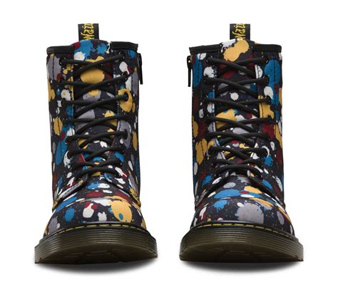angelus paint dr martens youth 1460 paint splatter official dr martens store uk