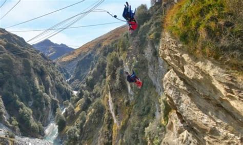 canyon swing new zealand ride the chair of death on world s highest cliff drop
