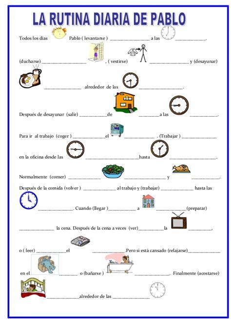 verbos reflexivos y rutina diaria con el sr bean vocabulario la rutina de pablo
