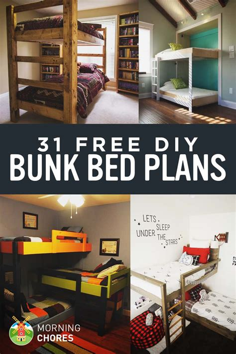 diy free 31 diy bunk bed plans ideas that will save a lot of