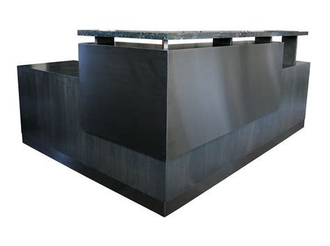 black reception desk black reception desks black reception desk w frosted