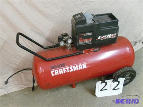 craftsman 3 gallon air compressor craftsman 25 gallon air compressor 3 5h tools contractor hardware more k bid